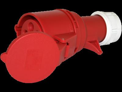Hunstik CEE17 32A 400V rød