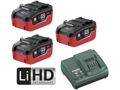Batteripakke m/3×18V/5,5Ah LiHD + oplader ASC