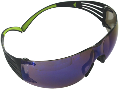 3M SecureFit 400 brille blå spejl AS