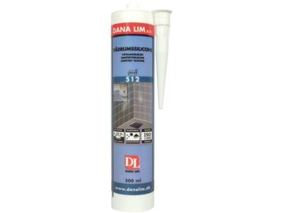 Vådrumssilicone 512 grå 300 ml
