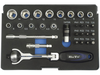 "Bato Rotoflex top-/bitssæt 1/4"" B-S1303"