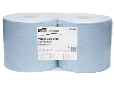 Tork  Aftør.papir Basic blå W1/W2