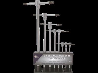 Bato Stiftnøglesæt m/T-greb 2-10mm, 8 stk i metalholder