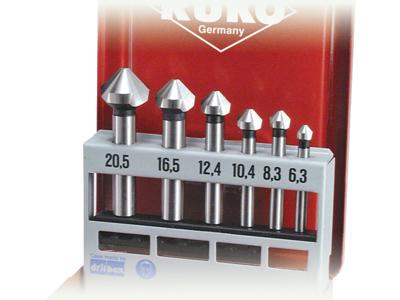 Ruko Forsænkersæt HSSE form C 6,3-20,5mm