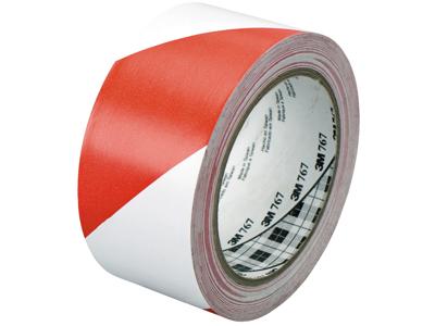 3M Fare-og adv.tape rød/hvid 50×33