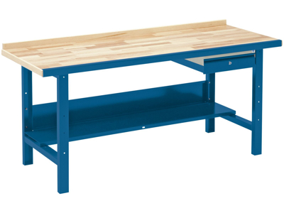 Blika Værkstedsbord VBB-1.20 m/hylde og skuffe