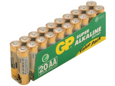 GP Batteri 15A LR6/AA 1,5V 20 stk