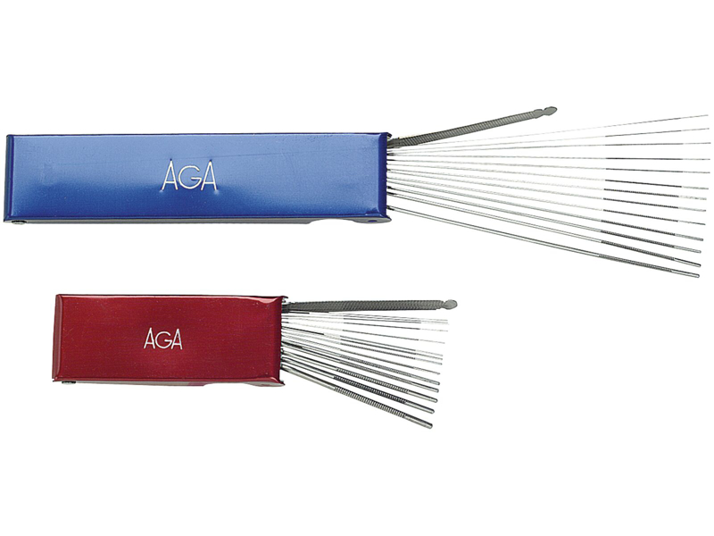 AGA Rensenåle kort metalæske (0.4-2.5)