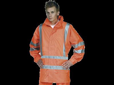 Ocean PU Regnjakke HI-VIS Orange