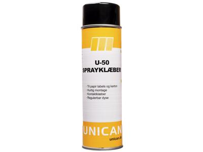 Unican U-50 klæberspray 500ml