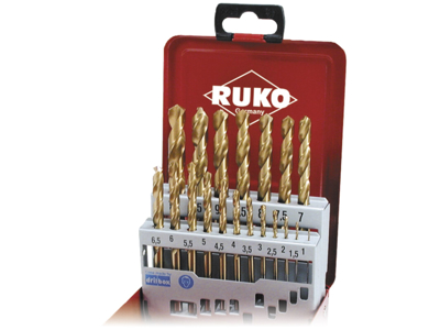 Ruko Spiralborsæt HSS Co5 1-10×0,5mm st.