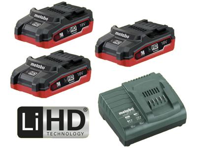 Batteripakke m/3×18V/3,1Ah LiHD
