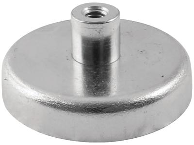 Ferrit pottemagnet ø80 mm med M10