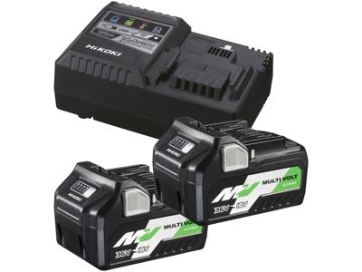 Hikoki Batteripakke 2×BSL36A18 multivolt + lader UC18YSL3