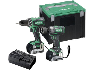 Hitachi Kombipak KC18DPL 2×18V/5Ah + 2 mask
