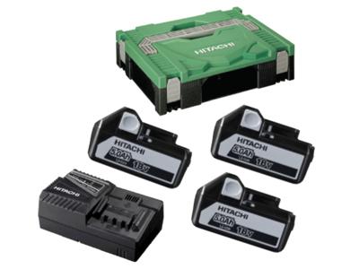 Batteri 18V BSL1850 3×5,0Ah + lader