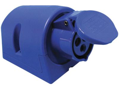 Vægstikdåse CEE17 16A 230V blå