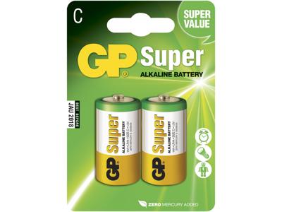 GP Batteri 14A LR14/C 1,5V 2 stk