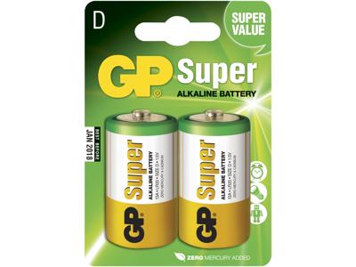 GP Batteri 13A LR20/D 1,5V, 2 stk