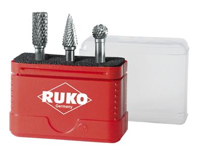Ruko HM-fræsersæt i minibox 3 dele