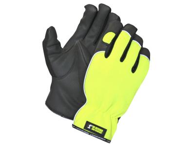 1st Neon halv-foret Handske