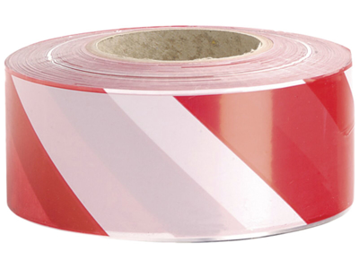 Afspærringsbånd rød/hvid 7cm×500m