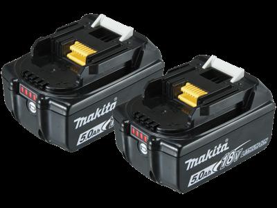 Makita Batteripakke 2×18V/5,0Ah BL1850B