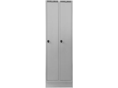Blika Garderobeskab HG-21 lys grå 2 søjle