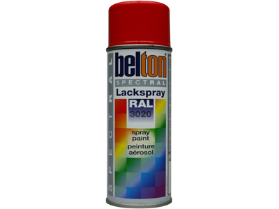 Belton spray 324 trafikrød RAL3020