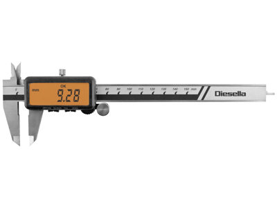 """Diesella Dig.skydelære 0-150 mm """"tolerence"""""""
