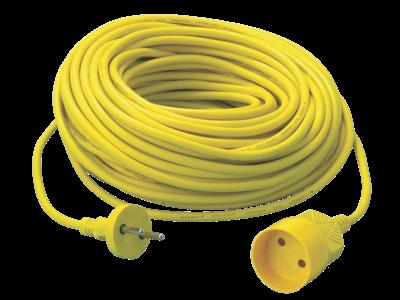 Kabelsæt 2×1,0 kvt 20 m gul