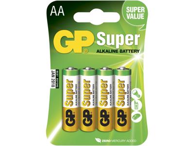 GP Batteri 15A LR6/AA 1,5V 4 stk