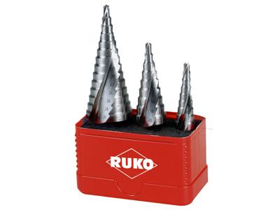 Ruko HSS Trappebor sæt (3)1/4 bitsskaft