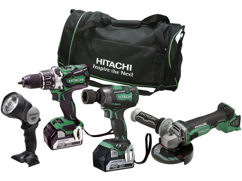 Hitachi Kombipakke 18V med 4 maskiner