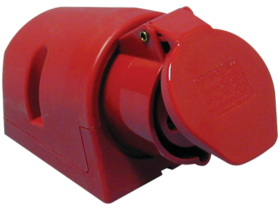Vægstikdåse CEE17 16A 400V rød