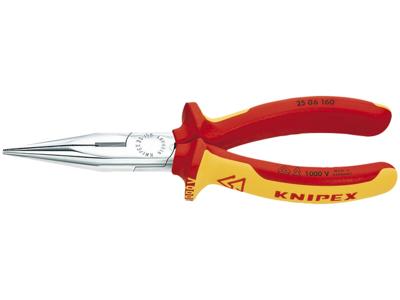 Knipex Fladrundtang m/skær VDE 25 06 160mm