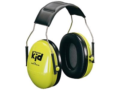 3M Høreværn KID neongrøn