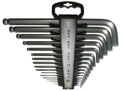 Bato Stiftnøglesæt m/kugle 1,3-19mm ex.l