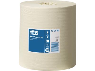 Tork aftør.papir Basic gul 6 rl/krt