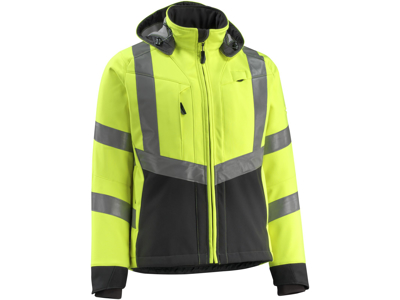 Mascot Blackpool softshell jakke hi-vis gul/sort 3XL