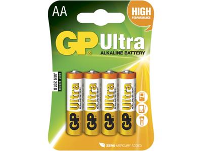GP Batteri 15AU LR6/AA 1,5V 4 stk