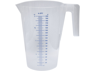 Målebæger transparent 5,0 L