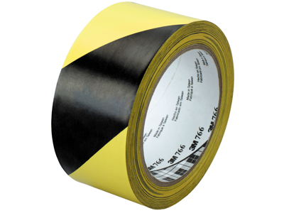 3M Fare-og adv.tape sort/gul 50×33