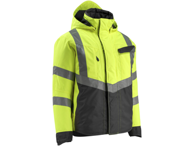 Mascot Hastings vinterjakke hi-vis gul/sort XL