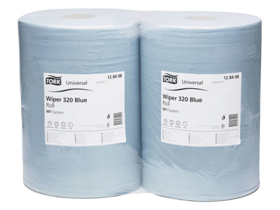 Tork aftør.papir Basic W1 blå 2rl