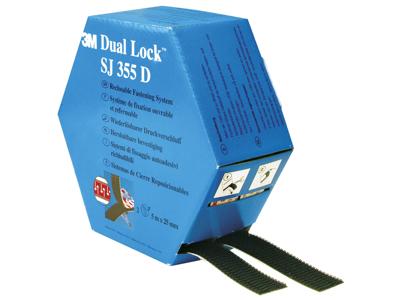 3M Burretape Dual Lock TM sort/ude 5m
