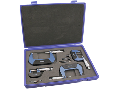 Mikrometerskruer 0-100mm, sæt 4stk