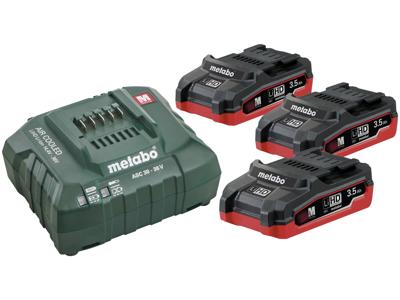 Batterisæt m/3×18V/3,5Ah LiHD+lader