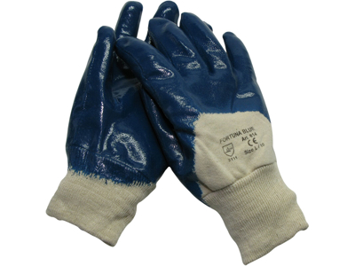 Fortuna Blue Handske M.Rib