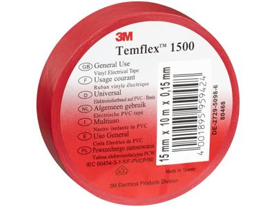3M Temflex eltape 15mm×10m rød